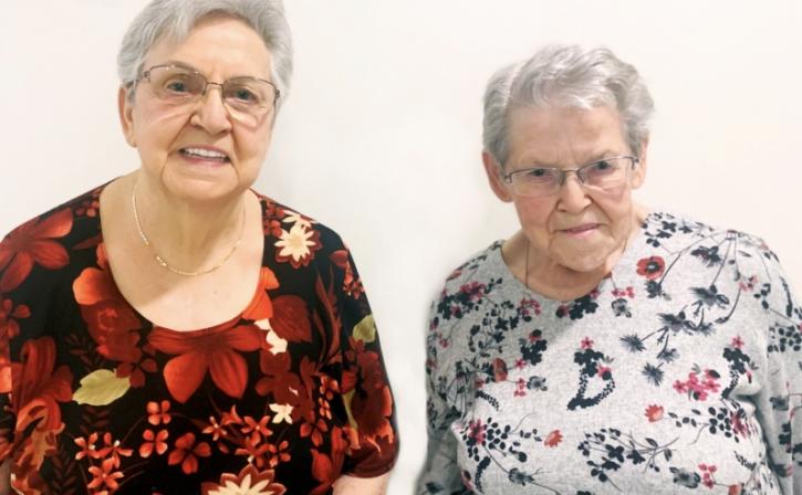 Jeannine et Gisèle provencher résidentes nicolet